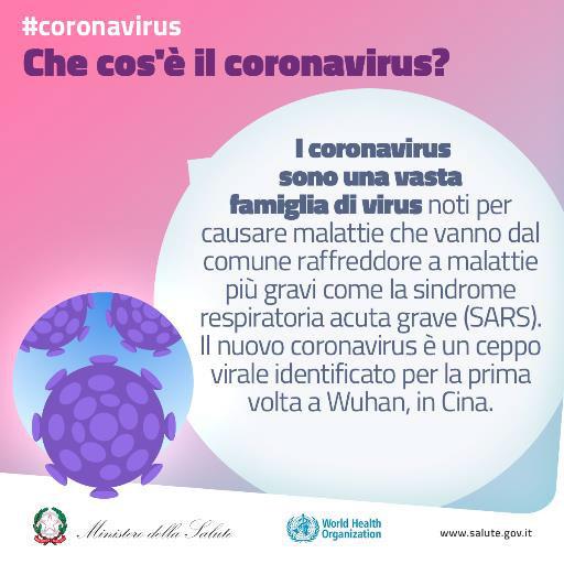 Cosa è il coronavirus