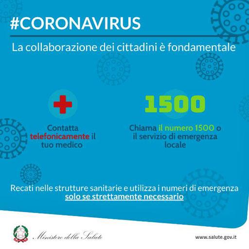 Coronavirus: la collaborazione dei cittadini è fondamentale